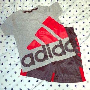 Adidas boys shorts and tee set